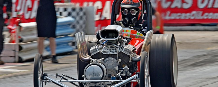 Lucas Oil drag racer at start